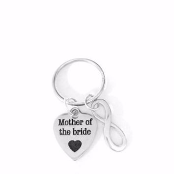 Mother Of The Bride In Law Heart Infinity Wedding Gift Keychain