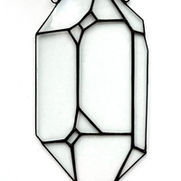 Glass Quartz Window hanging - Crystal Stained Glass