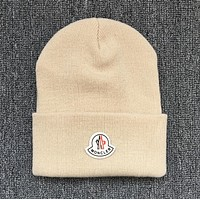 Moncler Trending Women Men Casual Beanies Winter Knit Hat Cap(6-Color) Beige
