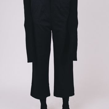High-Rise Cropped Cigarette Pants