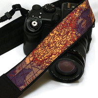 World Map Camera Strap.Photo camera Accessories. SLR, DSLR Camera Strap
