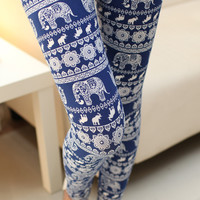 Elephant Tribal Print Leggings
