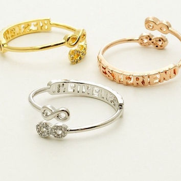Best Friend Double Infinity CZ Ring