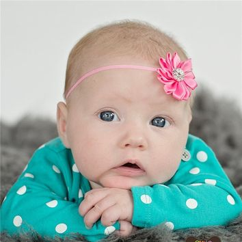Newborn Toddler Hair band with Mini Chiffon Flower Headband Infant Hair Weave Band