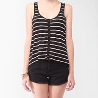 Striped Button Up Tank