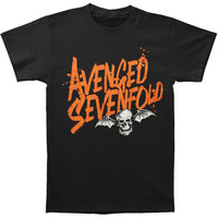 Avenged Sevenfold Men's  Orange Splatter T-shirt Black Rockabilia