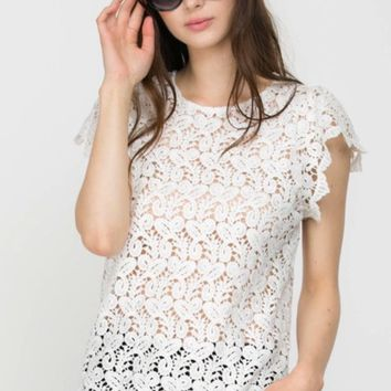 GAEA Lace Detail Top