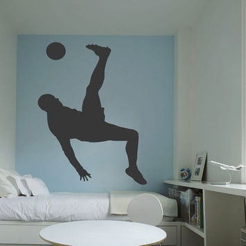 I189 Wall Decal Vinyl Sticker Art Decor Design man football sport team ball game Living Room Bedroom