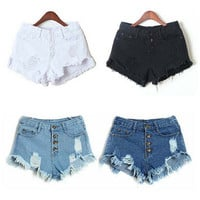 Women's Jeans Summer High Waist Stretch Denim Shorts Slim Korean Casual Women Jeans Shorts Hot Plus Size