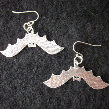 Bat Ear Rings with Solid Silver ear wires.