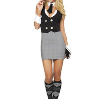 Roma Costume 4313-4pc Librarian Women's Costume