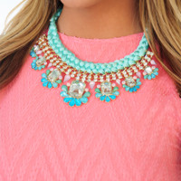 Sweet Addiction Necklace: Blue
