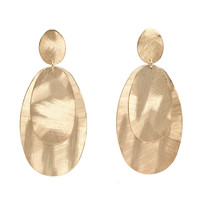 Brushed Oblong Earrings