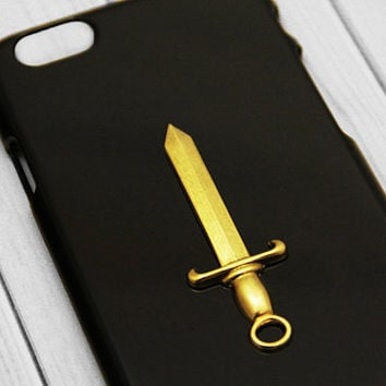 Gold iPhone 6 Case Sword iPhone 6s Steampunk Medieval iPhone 6 Plus iPhone 6s Plus iPhone 6s Plus Steampunk iPhone 6s Vintage Case Handmade