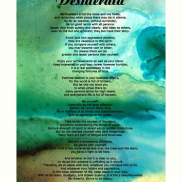 Desiderata 2 - Words of Wisdom by Sharon Cummings