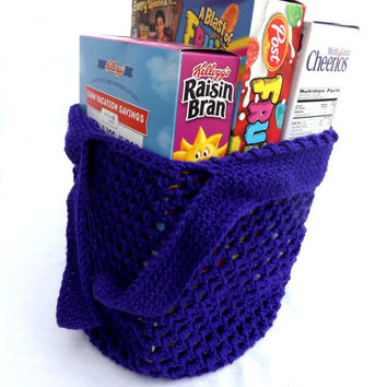 Reusable Grocery Bag - Purple eco-friendly bag - dance bag - shopping bag - farmer's market bag - beach tote - activity bag