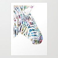 Zebra Art Print by NKlein Design