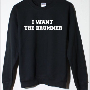 5 Seconds of Summer Ashton Irwin 5SOS I Want the Drummer Black Fleece Sweatshirt