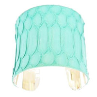 Mint Leather Cuff Bracelet- Real Snakeskin -by LEATHER WRAPS