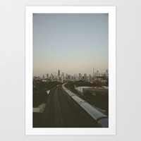 Entering Chicago Art Print by Michael LaMartin