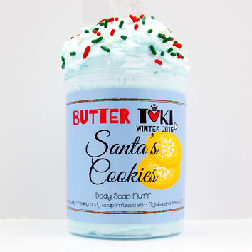 Santa's Cookies Whipped Body Soap Fluff 8oz