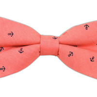 Chambray Anchors - Red (Cotton Bow Ties) from TheTieBar.com - Wear Your Good Tie Everyday
