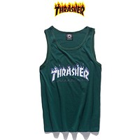 Thrasher Women Men Fashion Casual Vest Tank Top