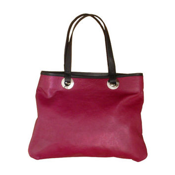 Burgundy Leather tote , Everyday bag , Handmade leather bag , Burgundy leather bag , Shoulder bag , Industrial bag , black only one