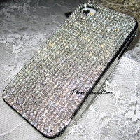Bling Crystals iPhone case White crystals by iPhoneCasesStore
