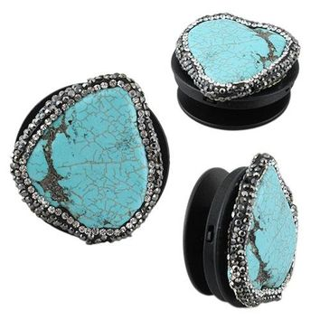 Crystal Turquoise Rock Phone Accessory