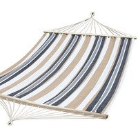 Furnistar Teutonic White Stripe Hammock Bed with Spread Bar (63 inch wide)