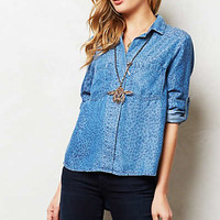 Leopard Chambray Popover