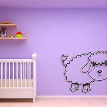 Wall Sticker For Kids Baby Lamb Cool Decor for Nursery Room Unique Gift z1405