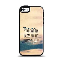 The Pastel Sunset You Cant Fly Unless You Let Yourself Fall Apple iPhone 5-5s Otterbox Symmetry Case Skin Set