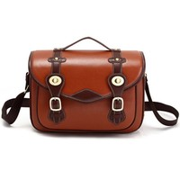 ZLYC Vintage Retro Cow Leather Removable Padded Camera Shoulder Messenger Bag for DSLR Camera and Lens, Brown, L