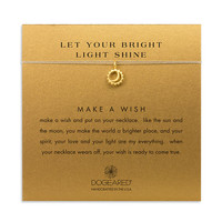 let your bright light shine sun and moon necklace on taupe, gold dipped - Dogeared