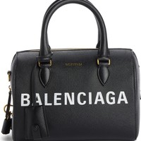 Balenciaga Ville Logo Leather Satchel | Nordstrom