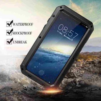 Heavy Duty Shockproof Waterproof Armor Aluminum Protective Case for iPhone X 10 7 8 Plus 6 6s 5 5s SE Hard Silicone Hybrid Cover