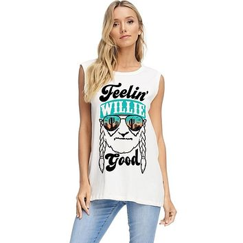 Feelin' Willie Good Graphic Top - Ivory