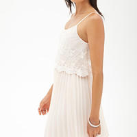 FOREVER 21 Embroidered Chiffon Dress Blush