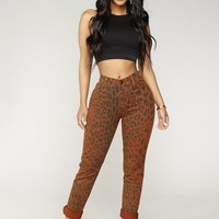 Animalistic Thoughts Skinny Jeans - Brown