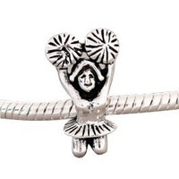 European charm metal bead CHEERLEADER