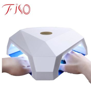 Fiso 60W LED / UV Nail Dryer Double Hole Design Nail Manicure Tool LED / UV Nail Gel Lamp for Drying all Gels Bases Polishes
