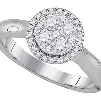 Diamond Fashion Ring in 14k White Gold 0.46 ctw