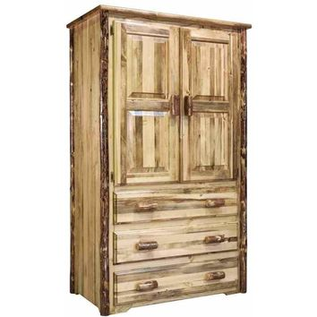 Montana Woodworks - Glacier Country Collection Armoire/Wardrobe