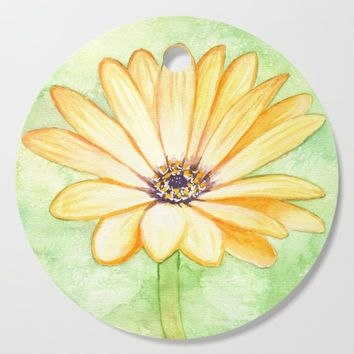 Orange aster flower Cutting Board by savousepate