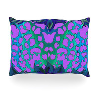"Artist Name ""Cerruda Blue Orchid"" Purple Teal Outdoor Throw Pillow"