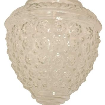 Royal Cove™ Acorn Globe Light Fixture Replacement Glass, Clear, 5-1-2 X 5-1-2 In., 3-1-4 In. Fitter