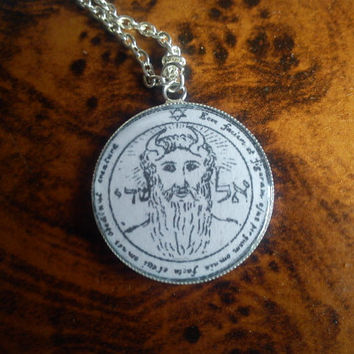 Powerful First Pentacle of Sun pendant. Brings the possessor all things may desire. Great power, Seal of Solomon, Talisman, Angels, Genesis