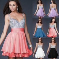 Deep V shining Party dress